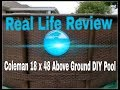 Real Review: Coleman 18 x 48 above ground DIY pool