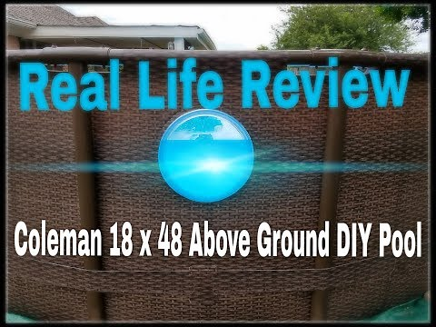 Real Review: Coleman 18 x 48 above ground pool - Bestway, Summer Waves and Intex