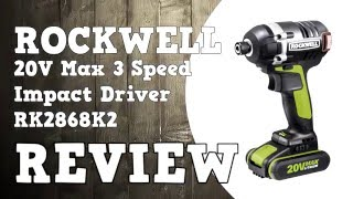 Rockwell 20V Max Brushless 3 Speed Impact Driver RK2868K2 Review