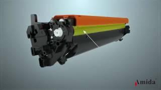 Amida New Premium HP17A Black Compatible LaserJet Toner Cartridge(CF217A)