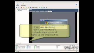 How to consolidate a snapshot in VMware ESX when there are v...