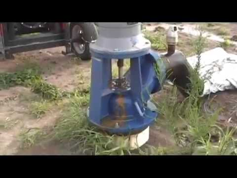 new irrigation pump with new 4 cylinder diesel engine (nice audio)