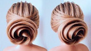 Обучение Прическам. Красивая Вечерняя Прическа Пошагово. Updo For Wedding. New Bridal Bun Hairstyle