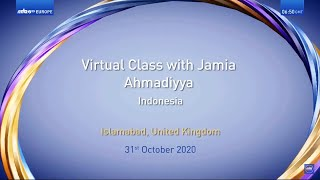 Virtual Class | Jamia Ahmadiyya Indonesia | Translation | Malayalam