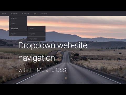HTML Dropdown Navigation Menu Tutorial. How To Create Navbar With HTML And CSS.