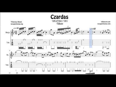 Czardas Video Tab Sheet Music for Banjo Classical Tablature