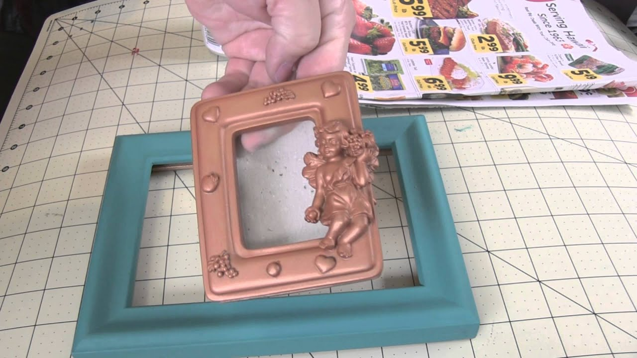 Refinishing a Frame with FolkArt Chalk Paint - YouTube