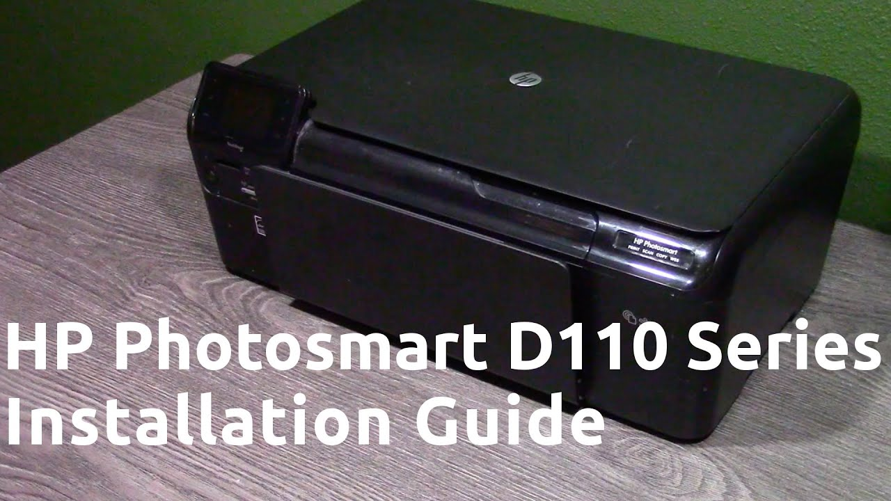 hight resolution of hp photosmart d110 series installation guide