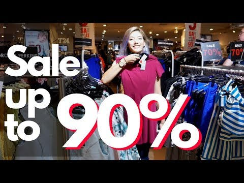 Shopping clothes ON SALE UP TO 90%  at the Downtown of Bangkok (Bangkok Fashion Outlet)