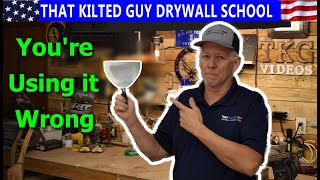 How to Use a Drywall Taping Knife Right!