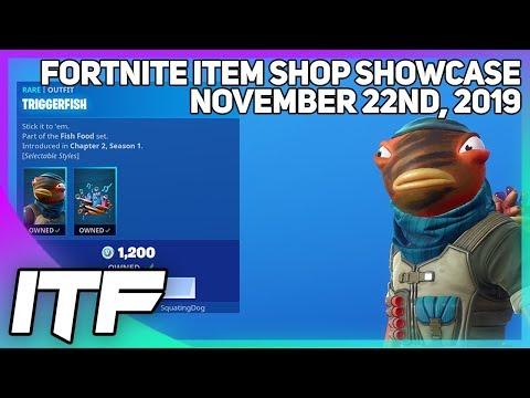 Fortnite Item Shop *NEW* TRIGGERFISH SKIN! [November 22nd, 2019] (Fortnite Battle Royale)