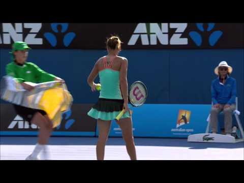 Kateryna Bondarenko v Ajla Tomljanovic highlights (1R)   Australian Open 2016