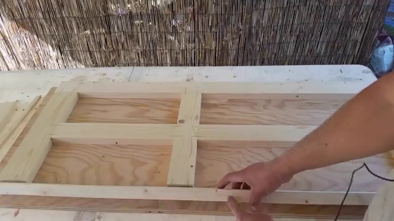 & Making a four panel door for the playhouse - YouTube