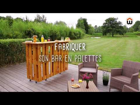 FABRIQUER UN BAR EN PALETTES - DIY - YouTube