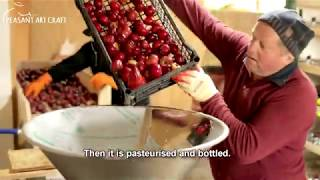 Artisan Apple Juice Making at Family Farm from Romania