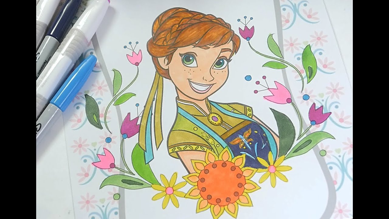Anna disney frozen coloring pages - Disney Frozen Coloring Book Princess Anna Coloring Pages For Kids