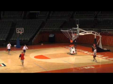 Basketball Shooting Machine - Hubie Brown Shooting drill
