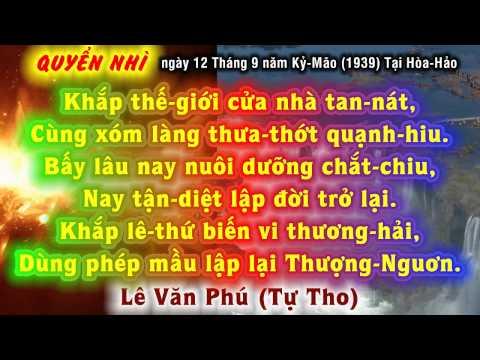 BÁC HAI THO - 4 câu: KHẮP THẾ-GIỚI CỬA NHÀ TAN-NÁT