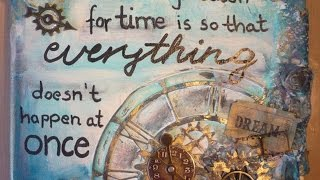 How To Create A Steampunk Mixed Media Canvas - DIY Crafts Tutorial - Guidecentral