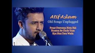 Atif Aslam old songs Live and unplugged   Pyaar deewana hota hai   honton se cholo tum  