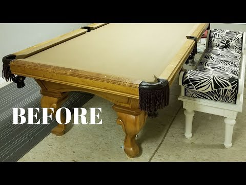 I Repurposed a Pool Table Into a DIY Craft Table! - Furniture Makeovers - Thrift Diving