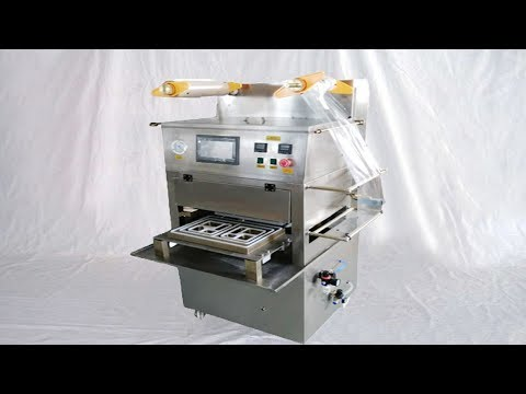 Plastic Film Tray Sealing Machinery MAP Food Packaging Equipment Semi Automatic Economic Cup Sealer