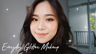 gold glitter makeup tutorial