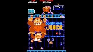 1982 [60fps] Donkey Kong Jr. 1040100pts