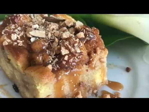 CARAMEL BREAD PUDDING / Simple Steps