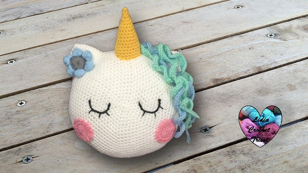coussin licorne crochet facile youtube. Black Bedroom Furniture Sets. Home Design Ideas