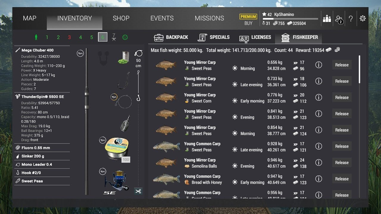 Fishing Planet, German Lake, Trophy Mirror, Leather, Grass Carp Guide