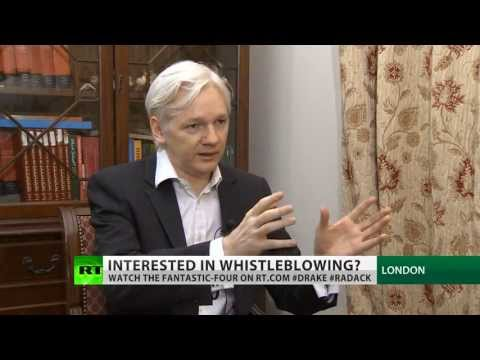 Assange: Snowden safe but journalists dealing with him at risk (FULL INTERVIEW)