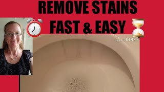 Easy toilet watermark stain removal - pumice stone | It really works | Fast & Easy cleaning trick