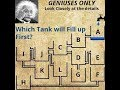 Which tank will fill first? Facebook puzzle