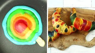 You Bake Me Crazy | RAINBOW PAN CAKES | Cake Hacks | Easy DIY Recipes By HooplaKidz Recipes
