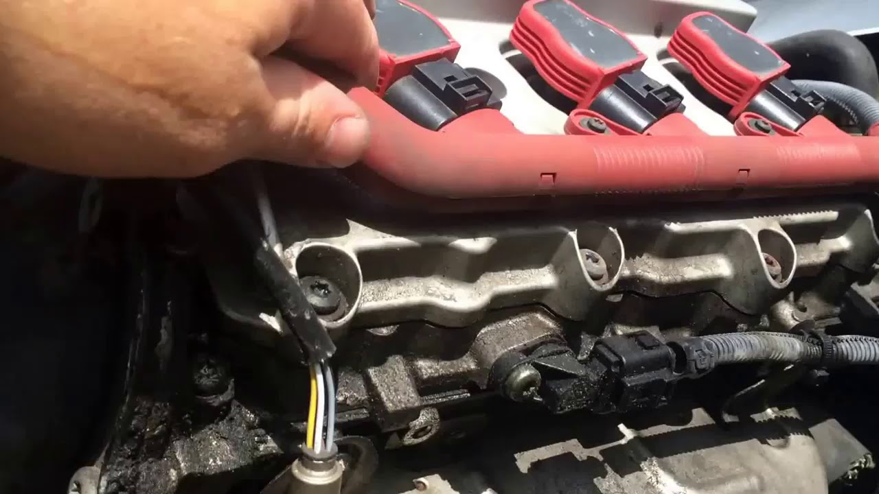 hight resolution of audi a6 2004 2011 oxygen sensor location and removal youtube engine bay diagram further audi a4 o2 sensor location on 1999 audi a6