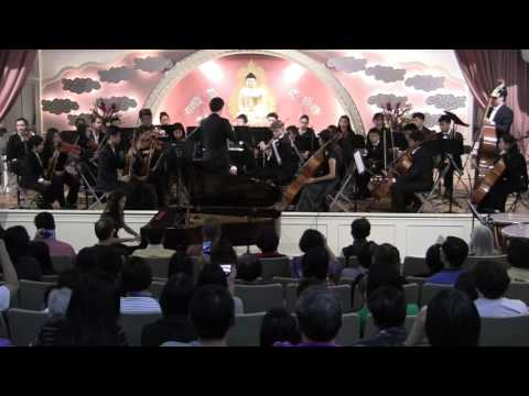 Emily Yu-An Chen 陳昱安 (13) 2017: Bach Piano Concerto in d minor, 1st mvt, in BLYSO Final Concert