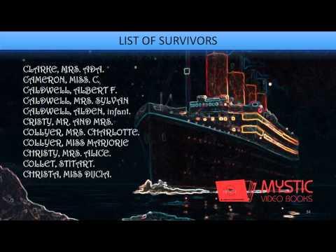 Titanic - Survivors' List, Roll Call of the Dead [19]