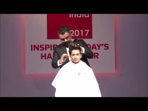 Academy collection launch by Vipul Chudasama at Salon India 2017