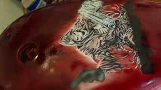 Video Airbrushing reaper with stencil on motorcycle fuel tank download MP3, 3GP, MP4, WEBM, AVI, FLV Agustus 2018