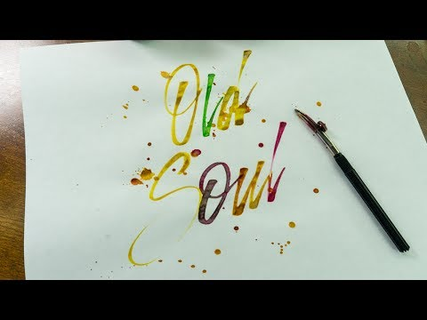 'Old Soul' Ruling Pen Calligraphy