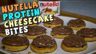 No Bake Nutella Protein Cheesecake Bites Recipe