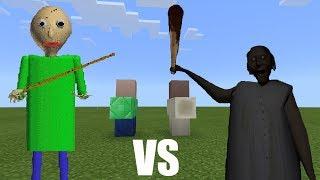 - Baldi vs Granny Minecraft PE