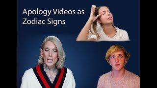 Apology Videos as Zodiac Signs