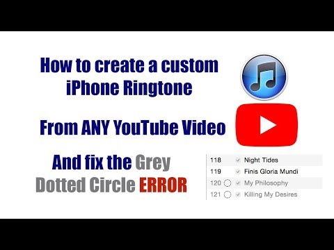 Free Custom iPhone Ringtones From ANY YouTube Video! How to Fix iTunes Grey Dotted Circle error