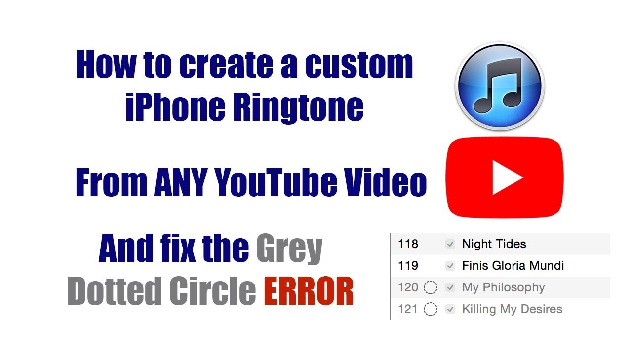 make ringtone from youtube video iphone