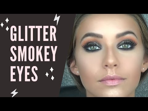 Tutoriel maquillage de f tes smokey eyes marron paillettes dor noel nouvel an gold glitter - Maquillage nouvel an ...