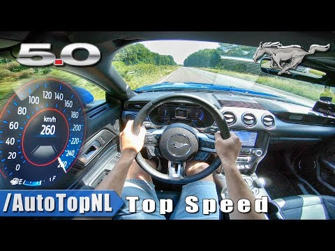 Ford Mustang GT . V | TOP SPEED AUTOBAHN POV by AutoTopNL
