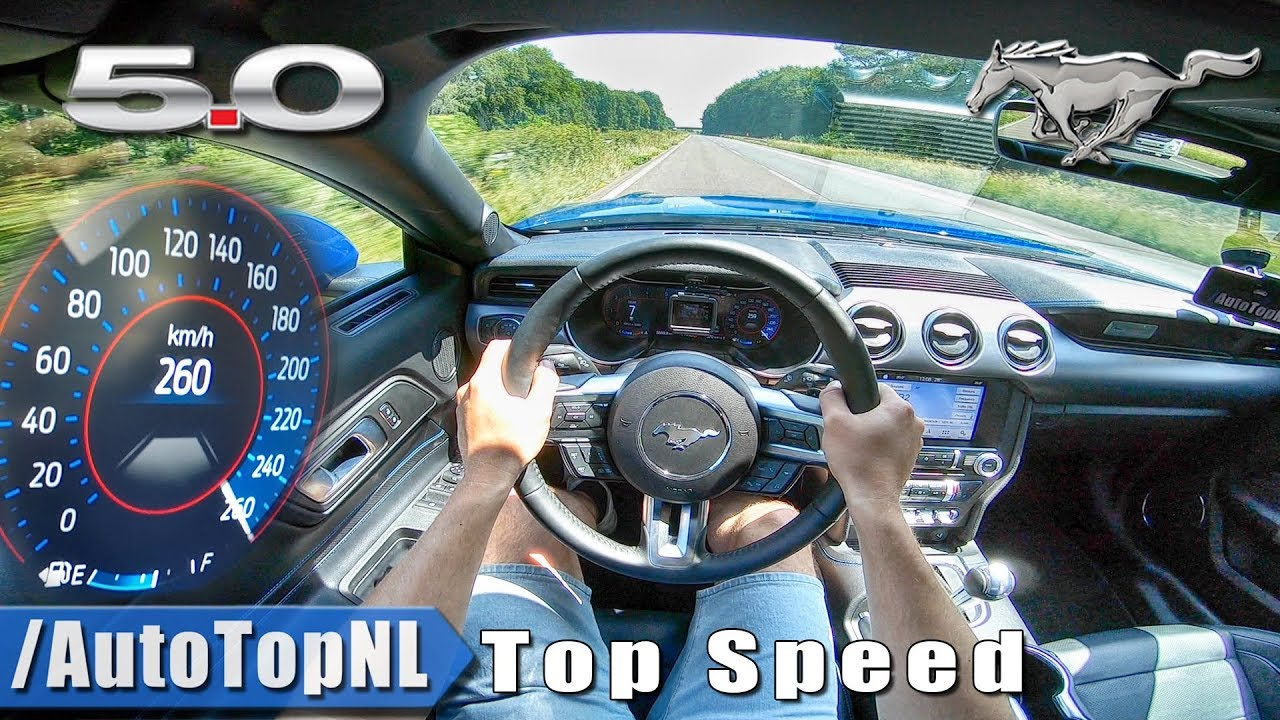 2019 ford mustang gt 5 0 v8 top speed autobahn pov by autotopnl