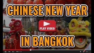 Chinese New Year In Bangkok 2018 - Chinatown Events